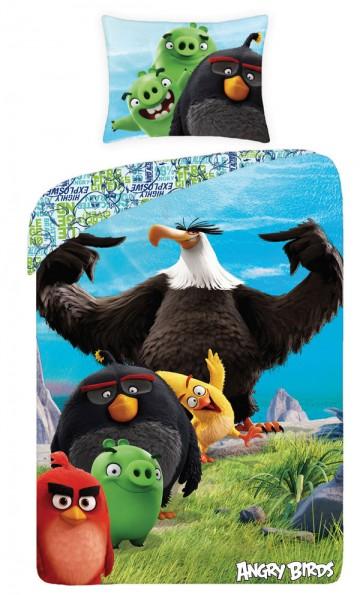 Povlečení Angry Birds ve filmu black 140/200