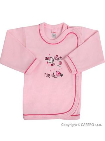Dojčenská košieľka Bobas Fashion Benjamin ružová