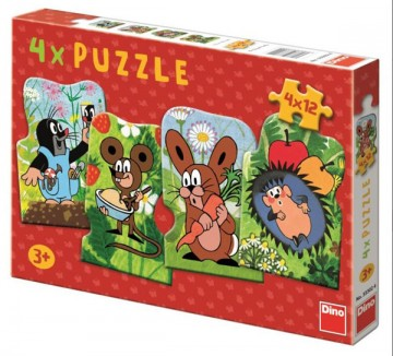 Baby puzzle Kis vakond 4in1