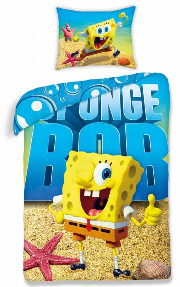 Ágyneműhuzat SpongeBob 140/200