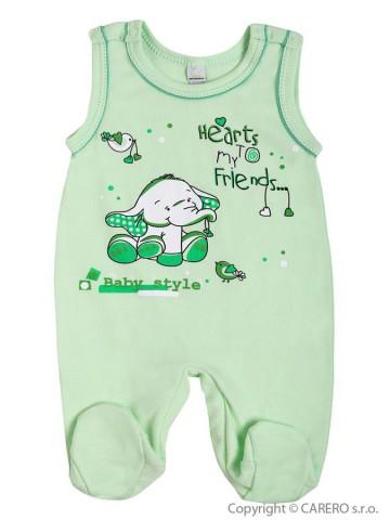 Dojčenské dupačky Bobas Fashion Benjamin zelené
