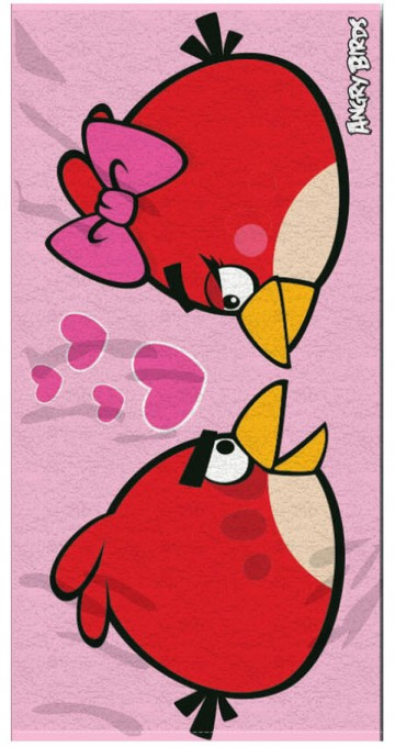Angry Birds Love fürdőlepedő 70/140