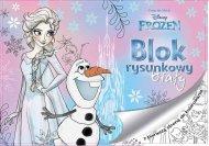 BENIAMIN Blok na kreslení s omalovánkami Ledové Království Elsa Papír, 29x21 cm