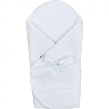 Zavinovačka s mašlí výztuží New Baby Sovičky bílá