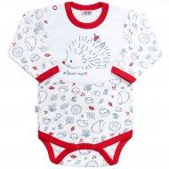 Kojenecké body s dlouhým rukávem New Baby Hedgehog červené