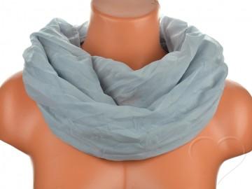 Dámský jednobarevný tunelový šátek - šedý