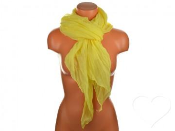 Letní šátek jednobarevný - žlutý