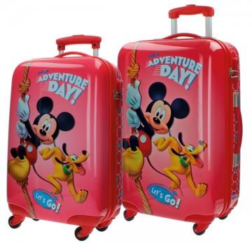 Sada cestovních kufrů ABS Mickey Adventure day 55/67 cm