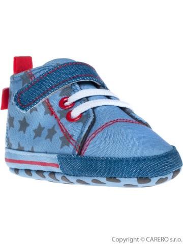 Dětské capáčky Bobo Baby 6-12m modré s hvězdičkami