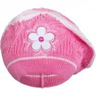 Pletená čepička-baret New Baby tmavě růžová
