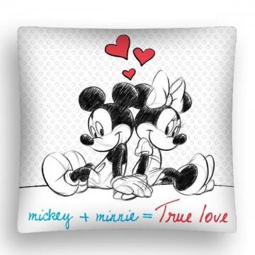 Povlak na polštářek Mickey a Minnie LOVE micro 40/40
