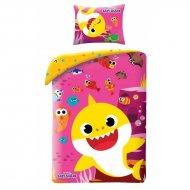 HALANTEX Povlečení Baby Shark Pink Bavlna, 140/200, 70/90 cm
