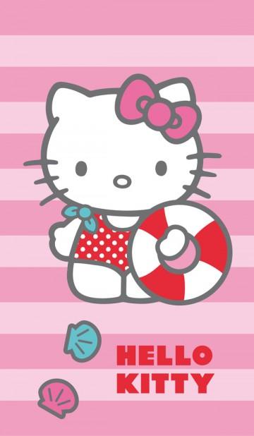 Osuška Hello Kitty proužky 70/120