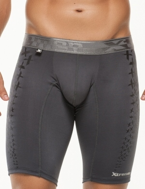 Pánské boxerky Xtremen Sports Boxer Printed Dark Gray, Velikost oblečení XL