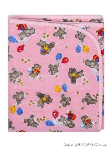 Přebalovací podložka Akuku 56x46 růžová s medvídky
