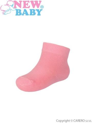 Kojenecké bavlněné ponožky New Baby růžové