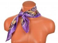 Malý šátek s motivem květinové zahrady, 55x55cm - fialový