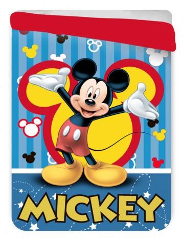 Letní prošívaná deka Mickey blue 180/260 cm