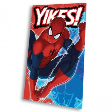 Fleece deka Spiderman blue 100/150