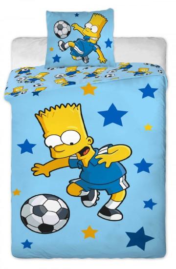 Povlečení Bart fotbal blue 140/200