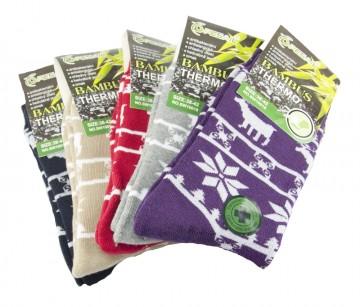 Dámske bambusové termo ponožky se sobem - 3 páry, veľkosť 38-42
