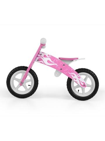 Dětské odrážedlo kolo Milly Mally Flip pink