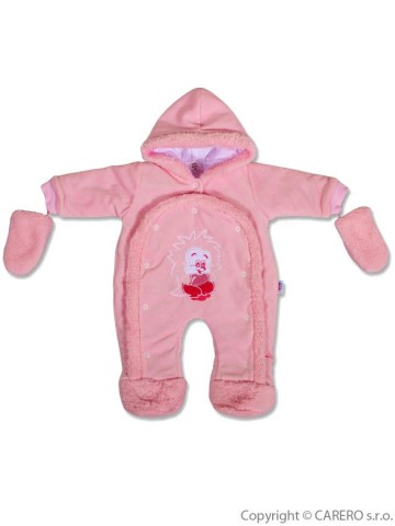 Dětská kombinéza New Baby ježek růžová