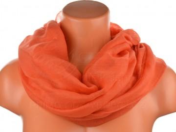 Eșarfă tunel pentru femei de o singură culoare - portocaliu