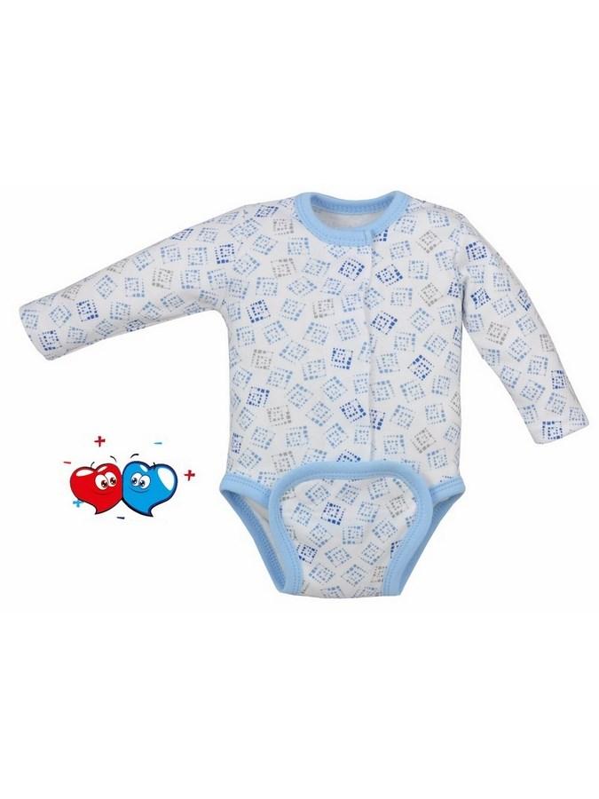 Dojčenské body celorozopínacie Koala Magnetky modré s kockami