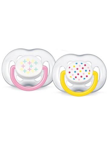 Dojčenský cumlík Avent 6-18 mesiacov ružový - 2 ks