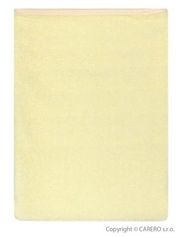 Nepremokavá podložka Akuku froté 70x50 - žltá
