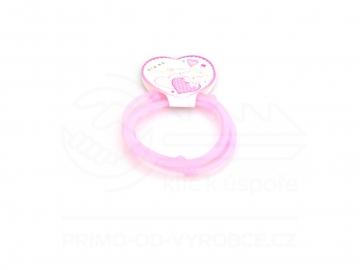 Gumové náramky srdíčka 4ks - světle růžové