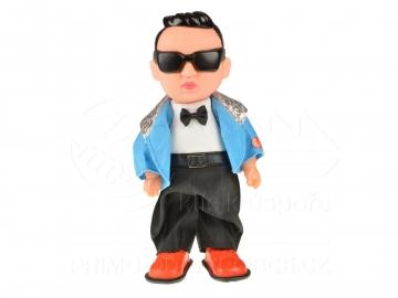 Panenka kluk Gangam style - modrý (32cm)