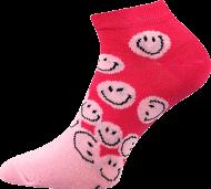 Ponožky Smajlící, nízké - 1 pár, velikost 39-42