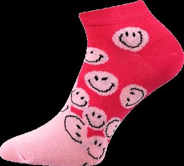 Ponožky - Smajlíci nízké - velikost 39-42