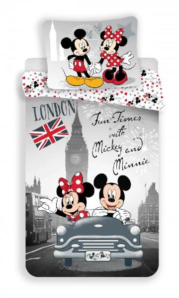Povlečení Mickey a Minnie v Londýně 140/200, 70/90