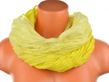 Eșarfă tunel pentru femei în nuanțele unei culori - galben