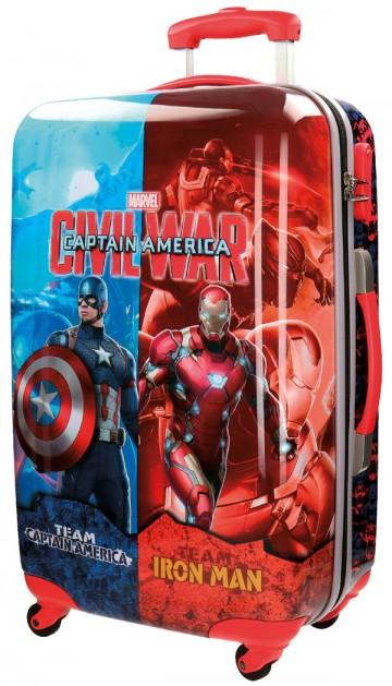 Cestovní kufr ABS Kapitán Amerika 55 cm