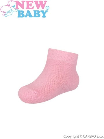 Kojenecké bavlněné ponožky New Baby světle růžové