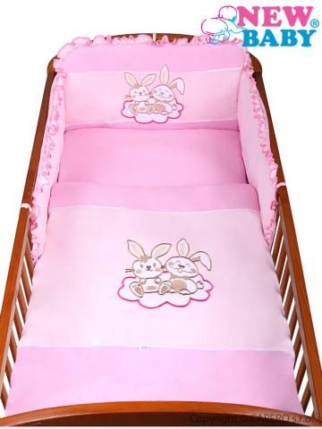 2-dielne posteľné obliečky New Baby Bunnies 100x135 ružové