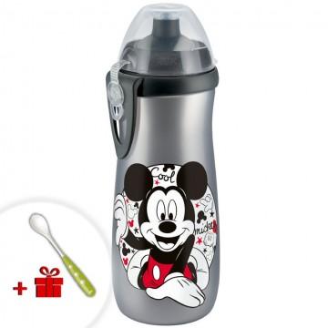 Dětská láhev NUK Sports Cup Disney Cool Mickey 450 ml šedá