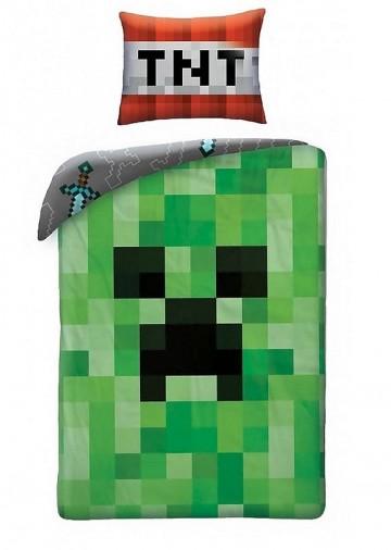 Povlečení Minecraft Creeper Face 140/200,70/90