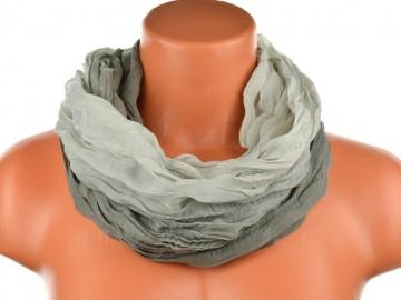 Dámský tunelový šátek v odstínech jedné barvy - světle šedý