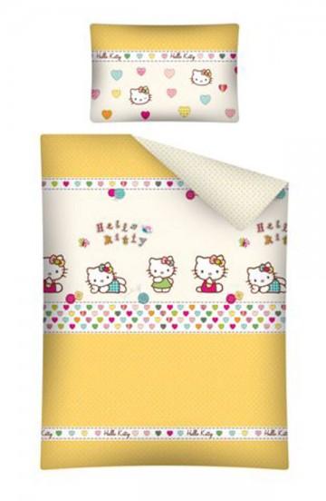 Povlečení do postýlky Hello Kitty žlutá 100/135