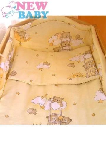 6-dielne posteľné obliečky 100/135 cm New Baby žltá