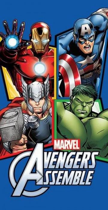 Osuška Avengers blue 70/140