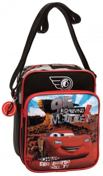 Taška přes rameno s kapsou Cars poušť 19 cm