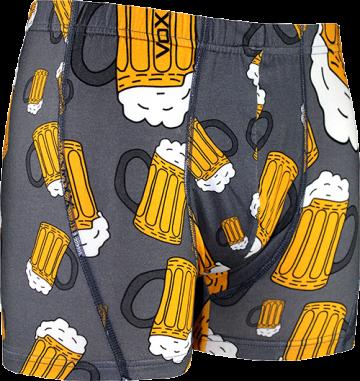 Boxerky pivo, 1ks - šedé - velikost XL