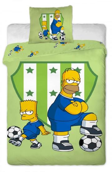 Povlečení Bart a Homer fotbal 140/200