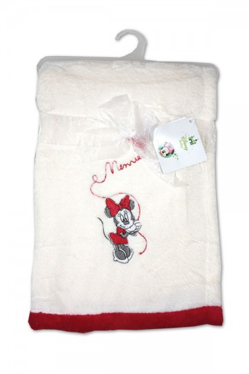Micropolar fleece deka Minnie bílá 76/102